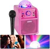 Karaoke set - Vonyx SBS50P - Roze karaokeset met Bluetooth, echo en microfoon