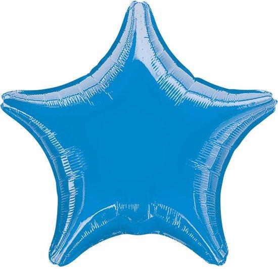 Folieballon Ster Turquoise  - 48 Cm