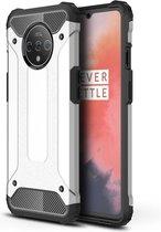 OnePlus 7T Hoesje - Armor Hybrid - Grijs