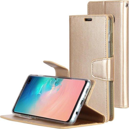 Let op type!! KWIK GOOSPERY SONATA DIARY horizontaal Flip lederen case voor Galaxy S10 +  met houder & kaartsleuven & portemonnee (goud)