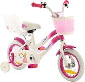 2Cycle Princess Kinderfiets -12 inch - Poppenzitje- Roze