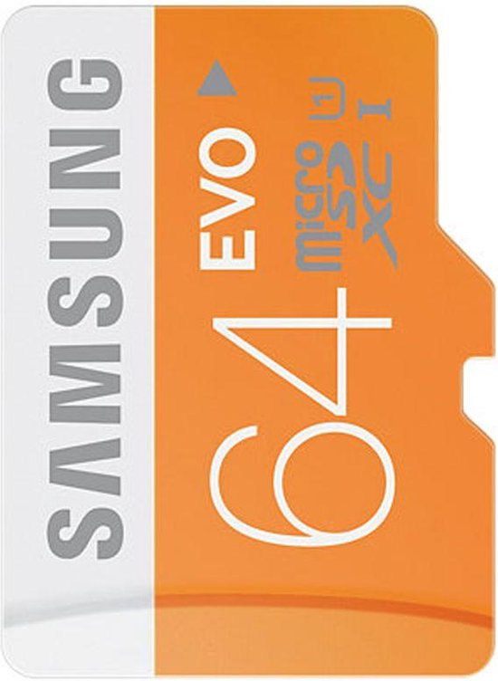 Samsung Evo 64 GB Micro SD geheugenkaart class 10