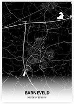 Barneveld plattegrond - A2 poster - Zwarte stijl