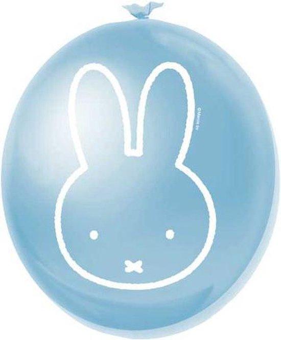 Ballonnen 6 st  geboorte jongen/Nijntje