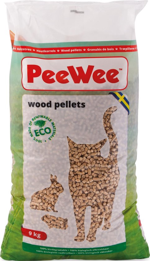 PeeWee Houtkorrels - Kattenbakvulling - 14 L