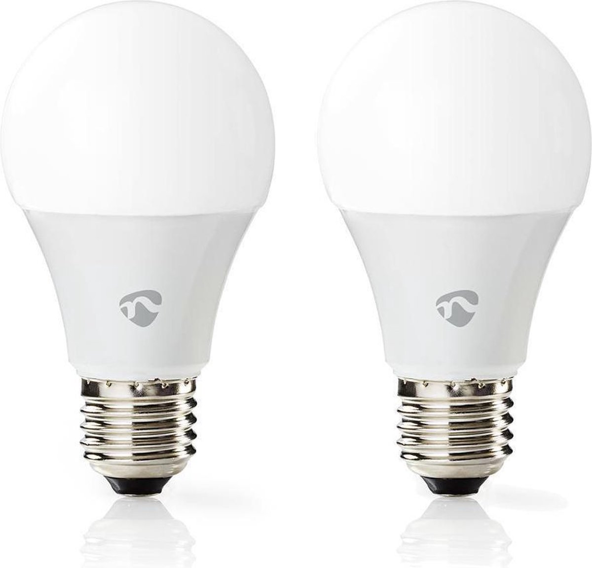 Dimbare Slimme Multi-colour Lamp   2 stuks   E27   470 lm   6 W   Wit / RGB / Warm Wit   RGB + 2700 K   Smartphone app   Wi-Fi