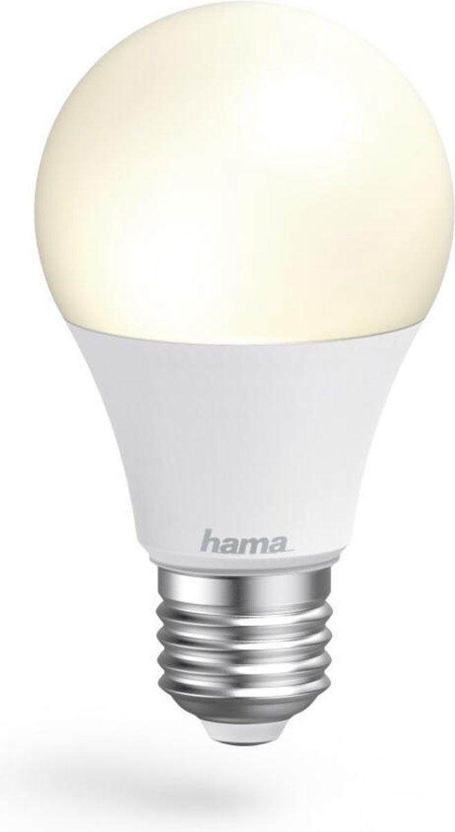 Hama Wifi-ledlamp E27 10W Zonder Hub Voor Spraak-/app-bediening Wit
