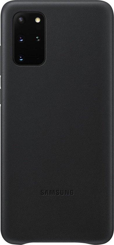Samsung Leather Hoesje  - Samsung Galaxy S20 Plus - Zwart