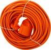 Exin Verlengsnoer - 20 meter - 2 x 1mm² - Niet geaard - Oranje