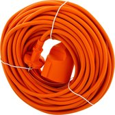 Exin Verlengsnoer - 20 meter - 2 x 1mm² - Oranje