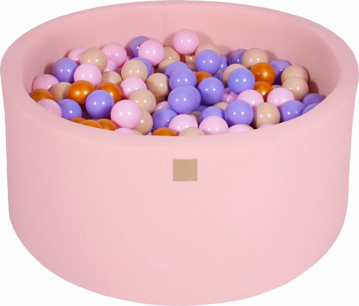 Ronde Ballenbak set incl 300 ballen 90x40cm - Licht Roze: Goud, Beige, Roze, Lila