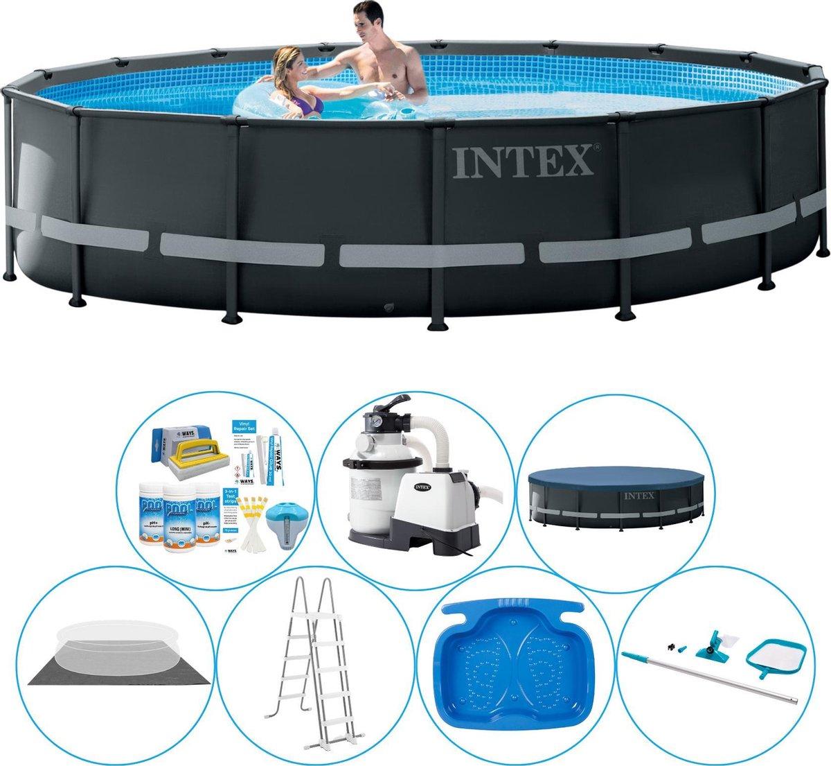 Intex Ultra XTR Frame Rond 488x122 cm - Zwembad Super Set