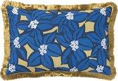 PALAIS - Kussen Michelle Blauw - 100% biologisch katoen canvas - Handgemaakt - Duurzaam