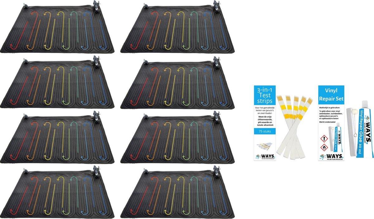 Intex - 8 stuks - Zwembad verwarming - Geschikt voor filterpomp 28634GS & WAYS Reparatieset en Teststrips