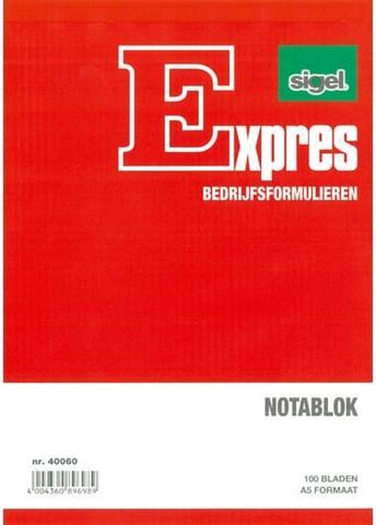 Notablok Sigel Expres - A5 hoog blok a 100 blad
