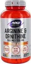 Arginine Ornithine 500/250 - 250 capsules
