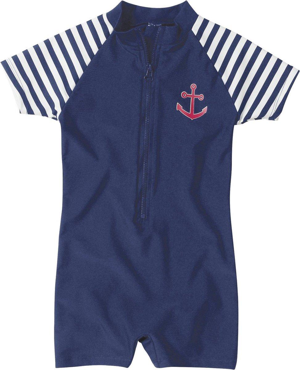 Playshoes UV zwempak Kinderen korte mouwen Maritime - Blauw - Maat 110/116