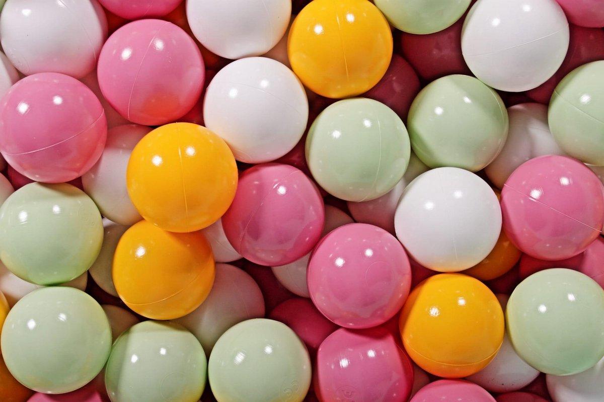 Ronde Ballenbak set incl 300 ballen 90x40cm - Mint: Turquoise, Transparant, Wit