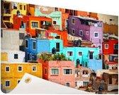 Kleurrijke steden van Mexico Tuinposter 200x100 cm - Foto op Tuinposter / Schilderijen voor buiten (tuin decoratie)