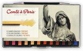 Conté à Paris Kleurkrijtjes Portret 12 stuks
