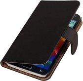 Zwart booktype Samsung Galaxy S5 Neo wallet case hoesje