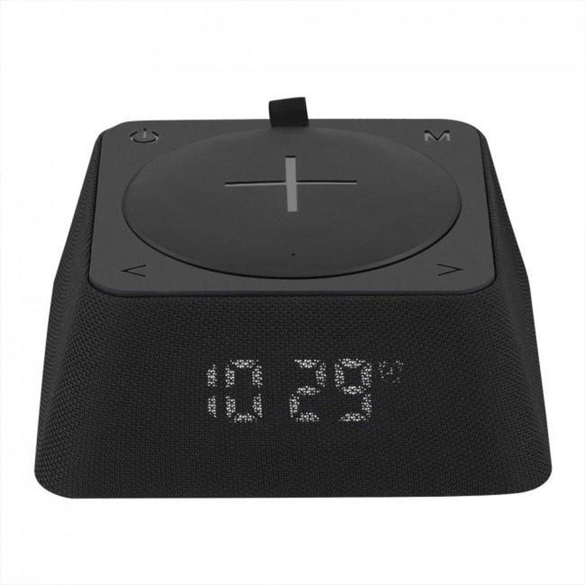 swisstone Q-Box Uhrenradio mit Bluetooth Lautsprecher, black