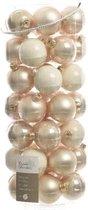 Glas Kerstballen Mix (6cm) Box 49 Stuks Pearl