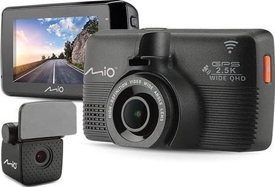 Mio MiVue 798 Dual Full HD dashcam - Zwart - Wi-Fi - GPS