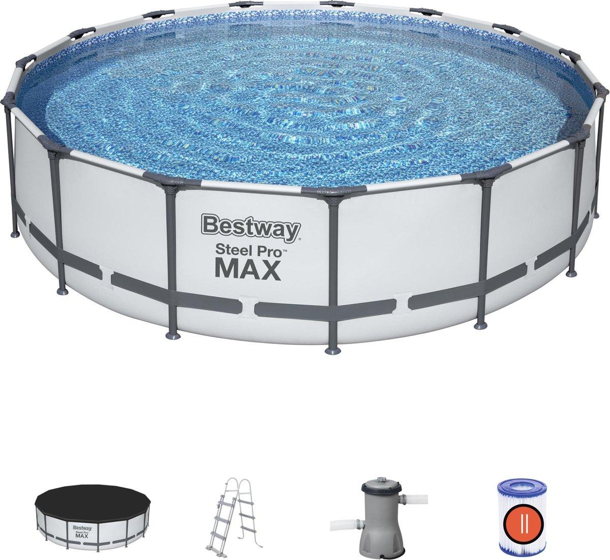Bestway Steel Pro Zwembad max set rond 457