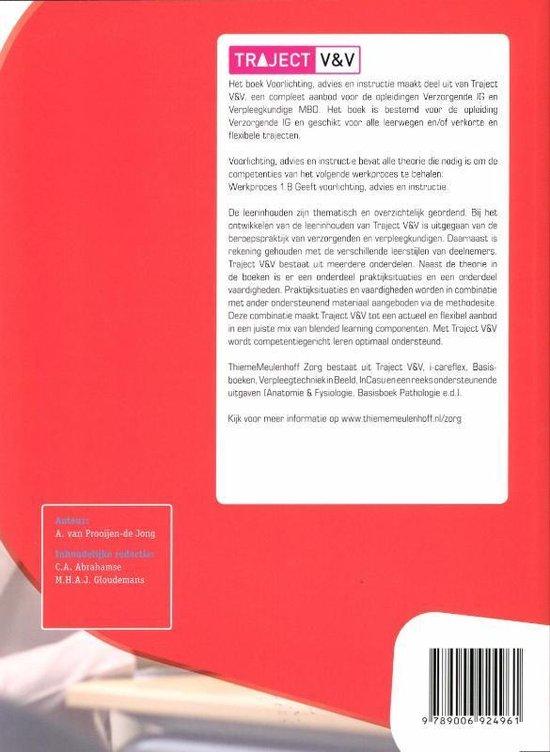 Traject V&V  -  Voorlichting, advies en instructie niveau 3