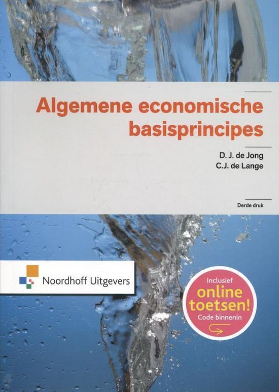 Boek cover Algemene economische basisprincipes van D.J. de Jong (Paperback)