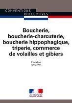 Boucherie, boucherie-charcuterie, boucherie hippophagique, triperie, commerce de volailles et gibiers