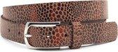 Dames ceintuur brique leopard 3 cm breed - Brique - Casual - Leer - Taille: 95cm - Totale lengte riem: 110cm - Vrouwen riem