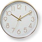 Ronde wandklok - Diameter 30 cm - Goud