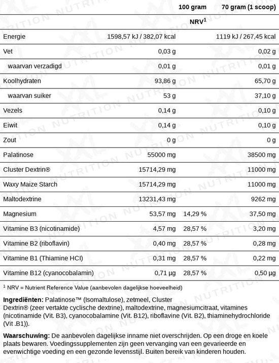 XXL Nutrition Advanced Carb Loader Zonder smaak 2000 gram