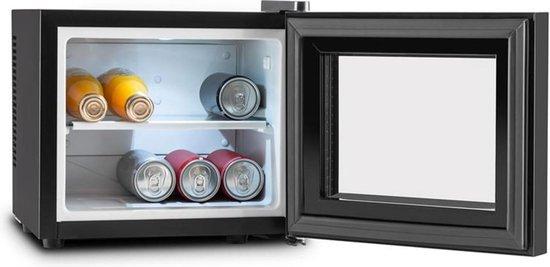 Koelkast: Frosty mini-koelkast 10 liter 65W klasse A+ zwart, van het merk Klarstein