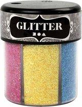 Glitter. diverse kleuren. 6x13 gr/ 1 Doosje