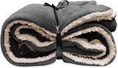 Unique Living Lars - Fleece - Plaid - 150x200 cm - Antraciet