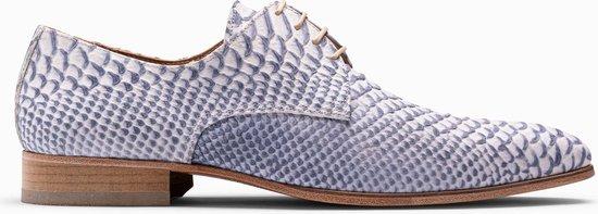Paulo Bellini Dress Shoe Carbonia Leather Blue.