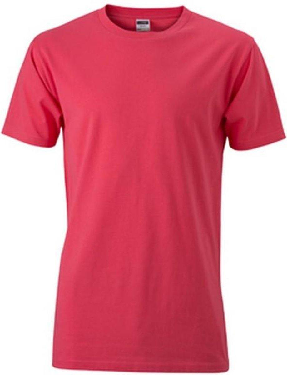 James and Nicholson Heren Slim Fit T-Shirt (Lichte bes)