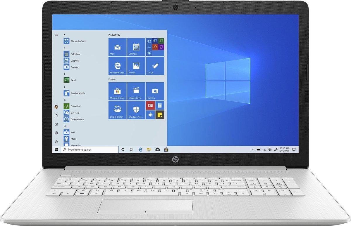 "HP 17-by4810nd DDR4-SDRAM Notebook 43,9 cm (17.3"") 1600 x 900 Pixels Intel® 11de generatie Core™ i3 8 GB 512 GB SSD Wi-Fi 5 (802.11ac) Windows 10 Home Zilver"