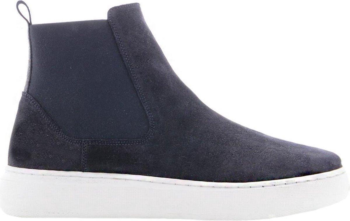 Tango | Luna 11-b Jaap resema navy suede chelsea sneaker - white sole | Maat: 41