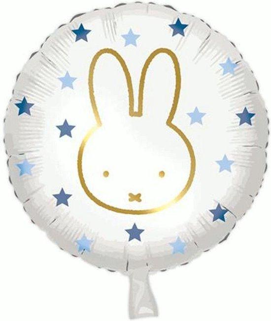 Folieballon Nijntje Blauwe Stippen