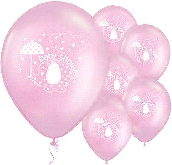 Ballonnen Baby Shower Olifantje Roze - 8 stuks