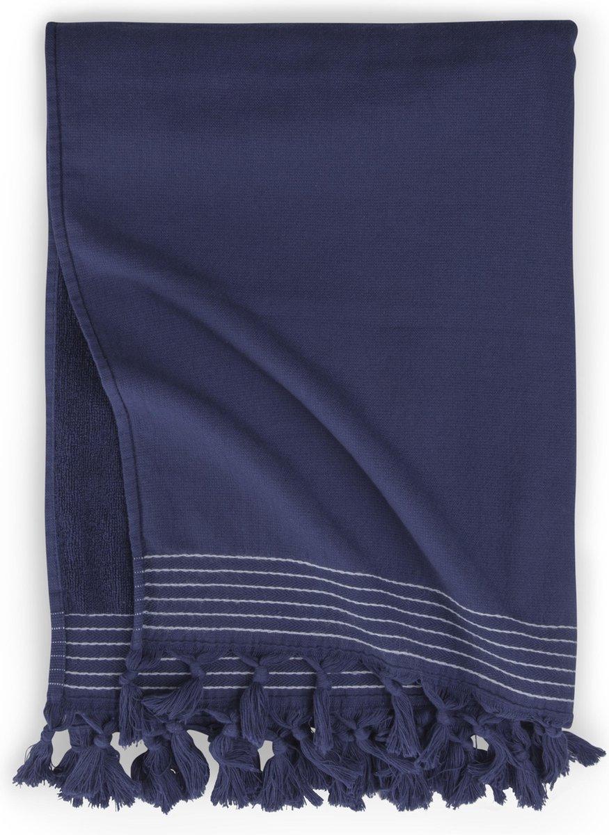 Walra Hamamdoek Soft Cotton - Navy - 100x180