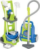 écoiffier Clean Home Schoonmaaktrolley en stofzuiger