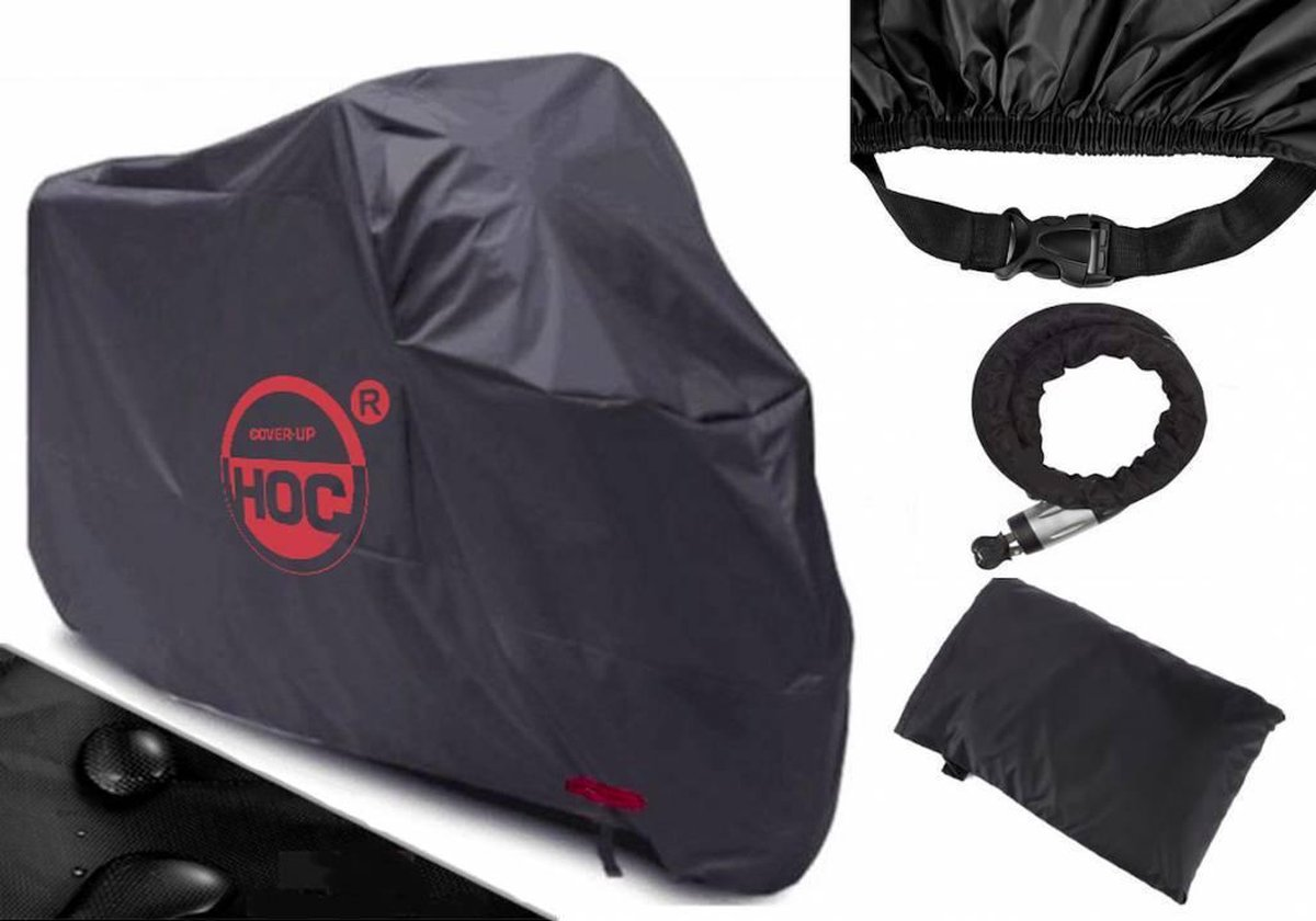 Piaggio Beverly COVER UP HOC Motorhoes stofvrij / ademend / waterdicht Red Label