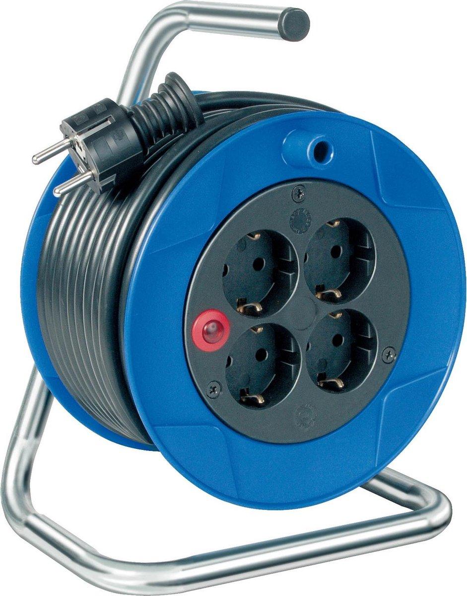 Brennenstuhl Garant Kompakt Kabelhaspel - 4-voudig - 15 meter - 3x1,5mm2