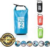 Decopatent® Waterdichte Tas - Dry bag - 2L - Ocean Pack - Dry Sack - Survival Outdoor Rugzak - Drybags - Boottas - Zeiltas - Blauw