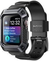 Supcase Unicorn Beetle Pro Case bandje voor Apple Watch 44mm - zwart